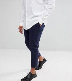 Темно-синие укороченные строгие брюки скинни ASOS PLUS - Темно-синий