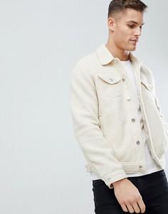 Светло-бежевая флисовая куртка в стиле вестерн ASOS - Бежевый