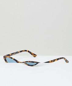 Солнцезащитные очки кошачий глаз в черепаховой оправе Vogue Eyewear by Gigi Hadid - Коричневый