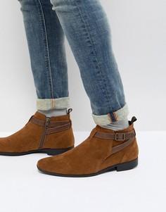 Коричневые ботинки из искусственной замши Burton Menswear - Коричневый