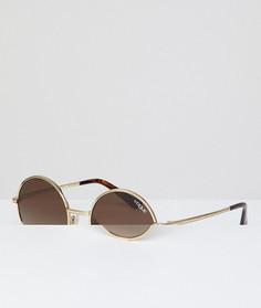Круглые солнцезащитные очки Vogue Eyewear by Gigi Hadid - Золотой