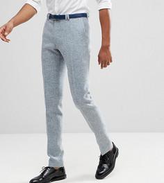 Облегающие брюки из твида Харрис Noak TALL - Синий