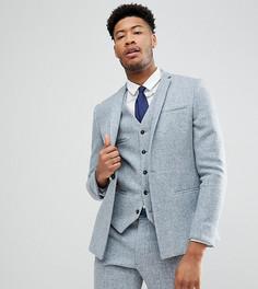 Облегающий пиджак из твида Харрис Noak TALL - Синий