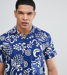 Рубашка с гавайским принтом и короткими рукавами Replay - Синий