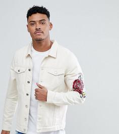 Джинсовая куртка с вышивкой роз Just Junkies - Белый