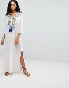 Пляжное платье макси с вышивкой Liquorish - Белый