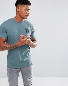Синяя обтягивающая футболка 11 Degrees - Синий