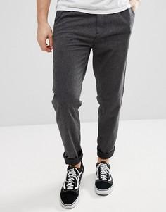 Свободные брюки из хлопковой ткани с начесом Esprit - Серый