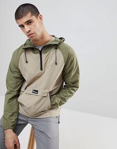 Складывающаяся куртка с контрастными рукавами реглан и капюшоном Penfield Pacjac - Зеленый