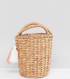 Соломенная сумка с кисточкой Glamorous - Бежевый