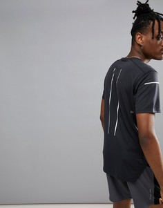 Черная футболка со светоотражающей отделкой Asics Running Lite-Show 154572-0904 - Черный