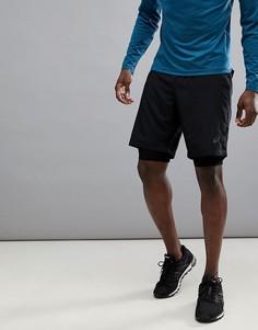Черные шорты 2-в-1 Asics Running 9 дюймов 134094-0904 - Черный