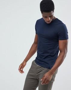 Темно-синяя футболка Celio - Темно-синий