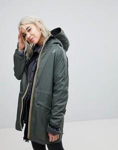 Удлиненная непромокаемая куртка K- Way Celine - Черный