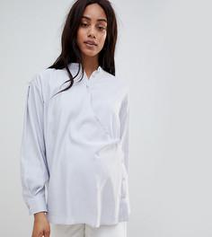 Рубашка с запахом ASOS WHITE MATERNITY - Серый