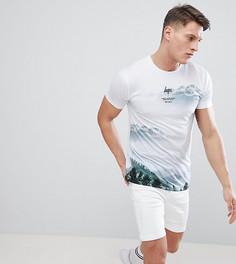 Обтягивающая футболка с принтом гор Hype эксклюзивно для ASOS - Белый