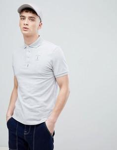 Серая футболка-поло с логотипом Hackett Mr. Classic - Серый