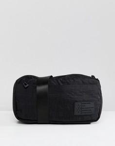 Сумка-кошелек на пояс с фактурной отделкой Religion - Черный