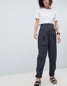 Суженные книзу брюки в полоску ASOS DESIGN Tailored - Мульти