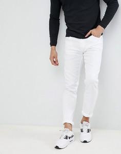 Белые джинсы скинни с логотипом Love Moschino - Белый