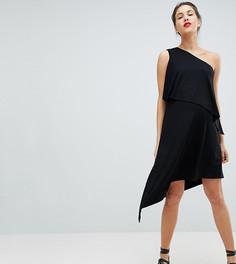 Платье на одно плечо с драпировкой Isabella Oliver - Черный