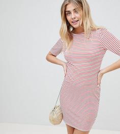 Платье-футболка в полоску с открытой спиной PrettyLittleThing - Мульти