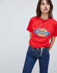 Футболка бойфренда с логотипом Dickies - Красный