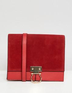 Кожаная сумка на плечо River Island - Красный