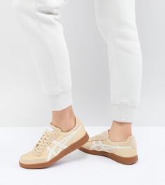Кремовые кроссовки с резиновой подошвой Asics Viccka - Розовый
