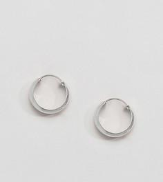 Крупные серебряные серьги-кольца Kingsley Ryan - Серебряный