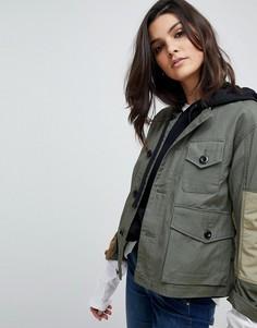 Камуфляжная куртка G-Star - Зеленый