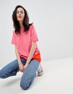 Розовая футболка с логотипом-трилистником и вставками adidas Originals Colorado - Розовый