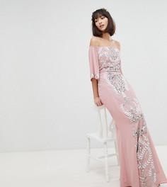 Платье макси с расклешенными рукавами Maya - Розовый