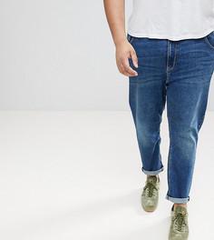 Темные зауженные джинсы ASOS PLUS - Синий