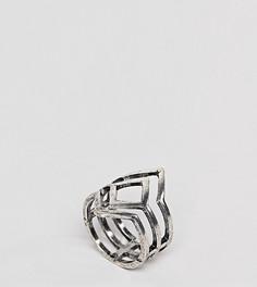 Резное кольцо эксклюзивно для ASOS DESIGN Curve - Серебряный