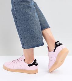 Розовые кроссовки на резиновой подошве adidas Originals Stan Smith - Розовый