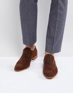 Коричневые замшевые туфли на шнуровке Zign - Коричневый
