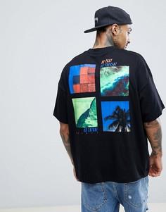Оверсайз-футболка с принтом на спине ASOS DESIGN - Черный