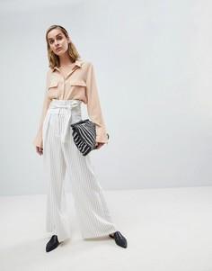 Широкие брюки в полоску ASOS WHITE - Мульти