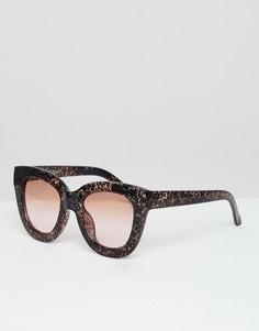 Солнцезащитные очки кошачий глаз Selected - Коричневый