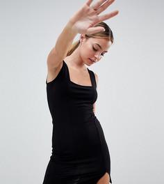 Облегающее платье мини ASOS DESIGN Petite - Черный