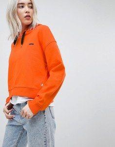 Худи оранжевого цвета с логотипом Vans - Оранжевый
