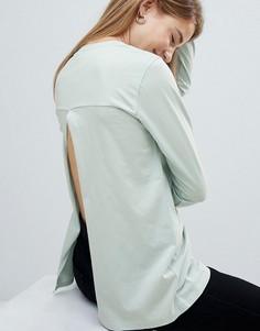 Лонгслив с разрезом на спине ASOS DESIGN - Зеленый