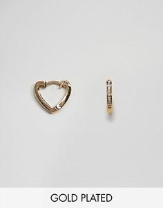 Позолоченные серьги-кольца Orelia - Золотой