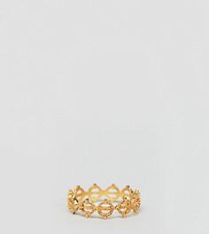 Кольцо из позолоченного серебра с филигранной отделкой ASOS DESIGN - Золотой