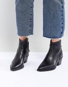 Ботинки в стиле вестерн с декоративными строчками AllSaints - Черный
