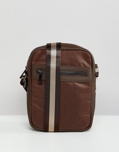 Коричневая сумка для авиапутешествий с геометрическим принтом River Island - Коричневый