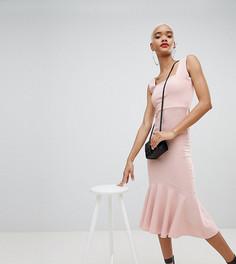 Платье миди без рукавов Boohoo - Розовый
