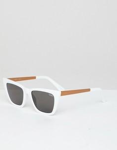 Белые солнцезащитные очки Quay Australia X Desi Dont At Me - Белый