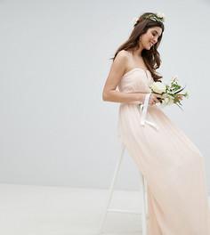 Платье макси бандо TFNC - Розовый